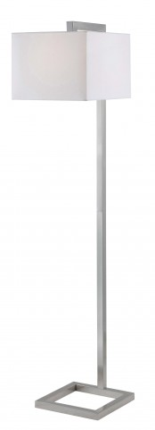 4 Square Brushed Steel Floor Lamp
