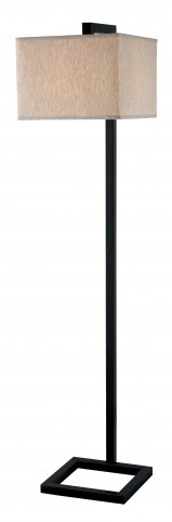 4 Square Oil Rubbed Bronze Floor Lamp