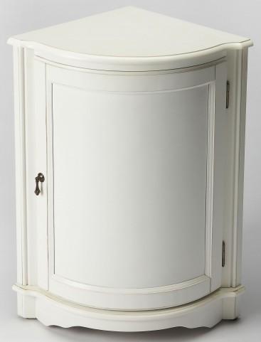 Durham Cottage White Corner Cabinet