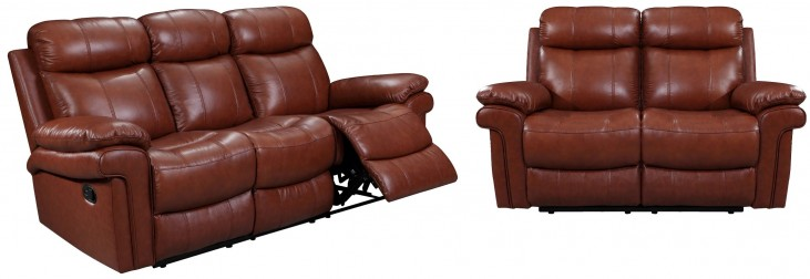 Joplin Saddle Leather Power Reclining Living Room Set