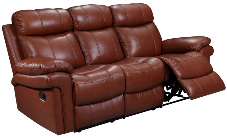 France Saddle Leather Reclining Sofa