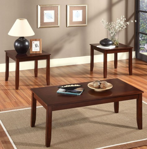 Brantley Brown Merlot 3 Piece Occasional Table Set