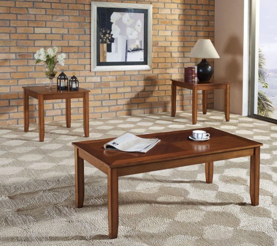 Brantley Tawny Golden Oak 3 Piece Occasional Table Set