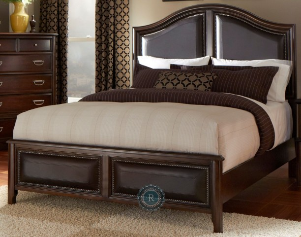 Beaux King Upholstered Panel Bed