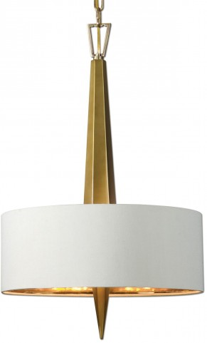 Obeliska 3 Light Gold Chandelier