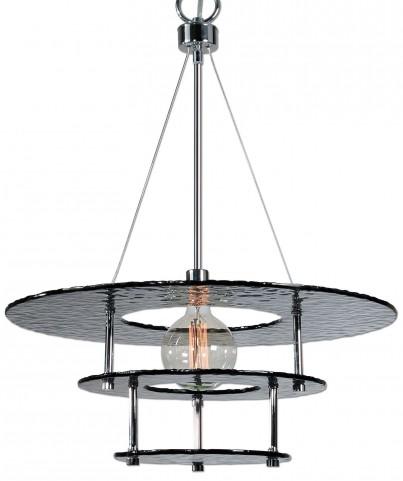 Gyrus 1 Light Smoke Glass Chandelier
