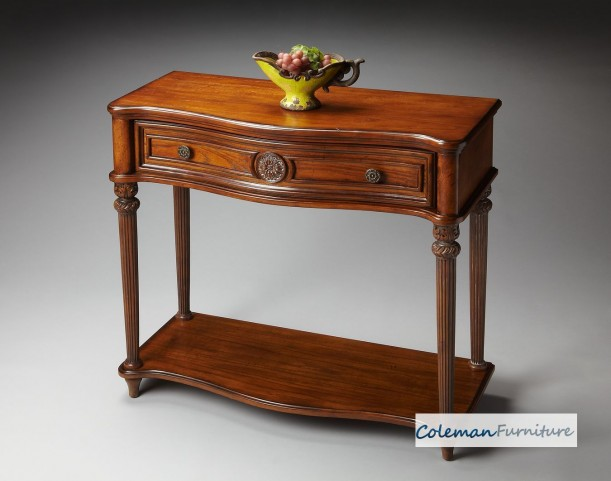 Plantation Cherry Vintage Oak Console Table