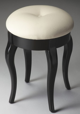 Masterpiece Black Licorice Vanity Stool