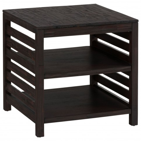 Rich Roast Slatted End Table
