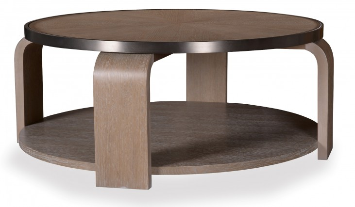 Greenpoint Sandstone Round Cocktail Table