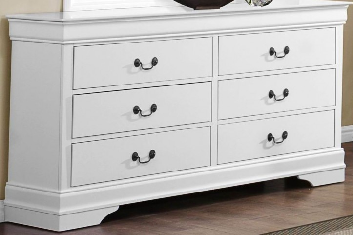 Mayville Burnished White Dresser