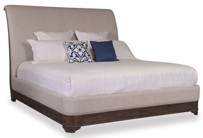 St. Germain King Upholstered Sleigh Bed