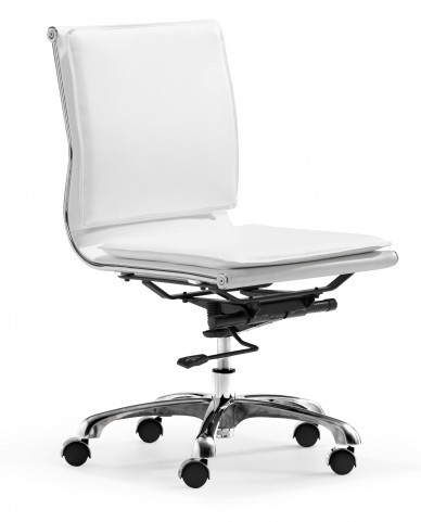 Lider Plus Armless Office Chair White