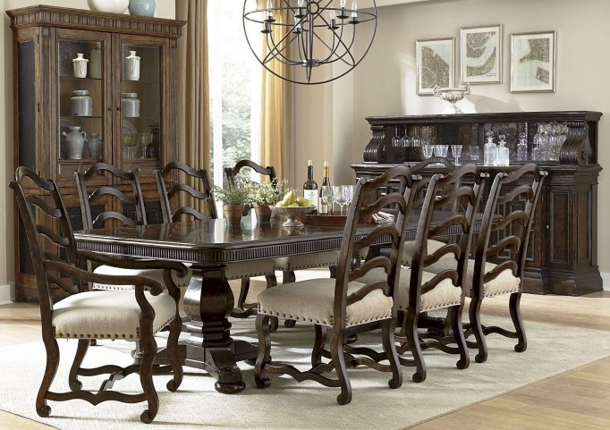 Collection One Harvest Espresso Rectangular Dining Room Set