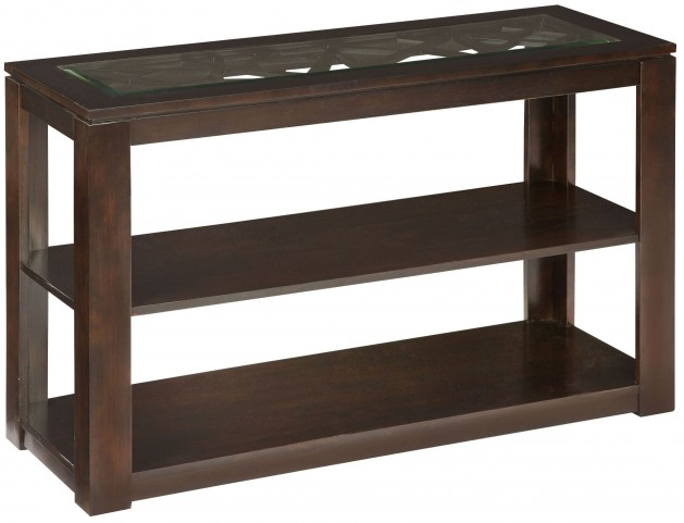 Crackle Dark Merlot Sofa Table