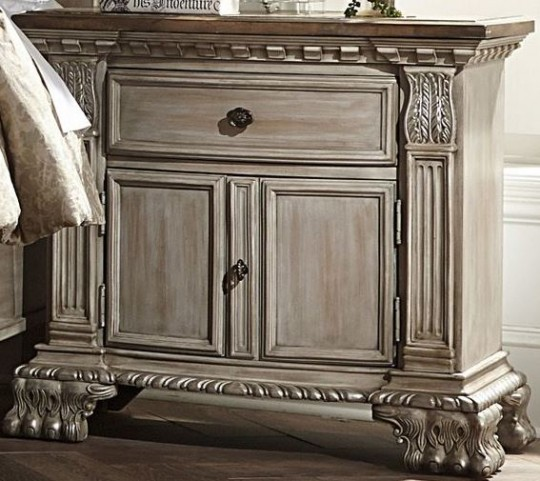 Orleans II White Wash Nightstand