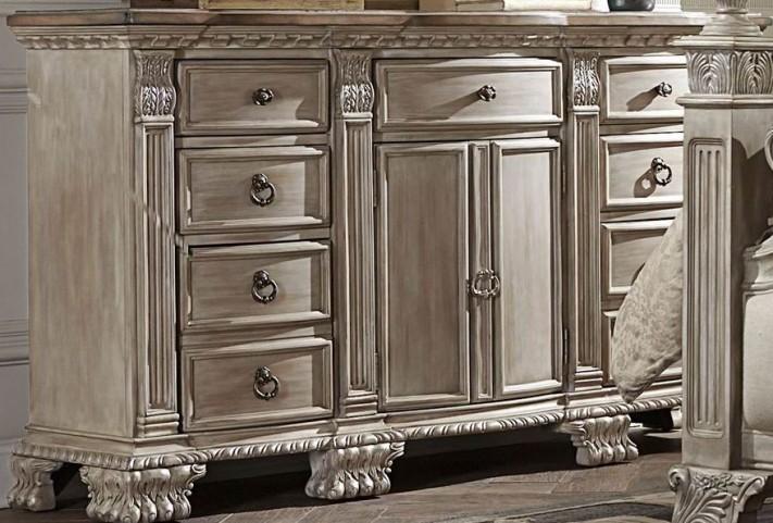 Orleans II White Wash Dresser