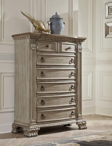 Orleans II White Wash Chest