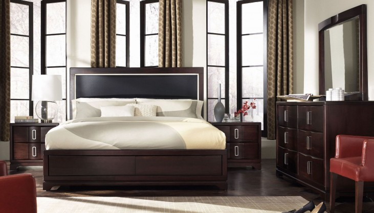Brooke Upholstered Panel Bedroom Set