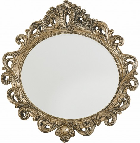 Jessica Mcclintock Boutique Baroque Silver Veil Oval Decorative Mirror