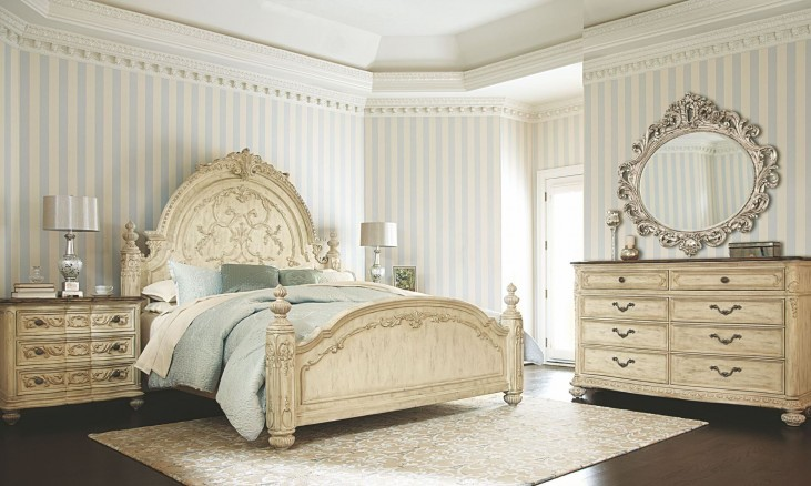 Jessica Mcclintock Boutique White Veil Mansion Bedroom Set