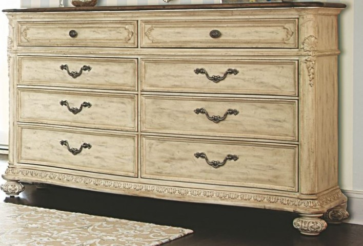 Jessica Mcclintock Boutique White Veil Revival Top Drawer Dresser