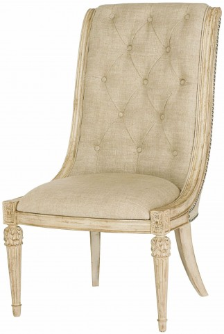 Jessica Mcclintock Boutique White Veil Upholstered Side Chair