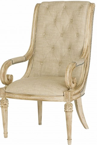 Jessica Mcclintock Boutique White Veil Upholstered Arm Chair