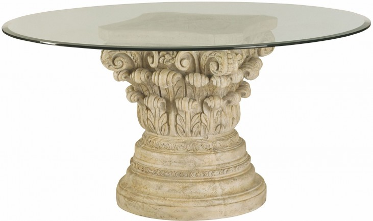Jessica Mcclintock Boutique White Veil Round Dining Table