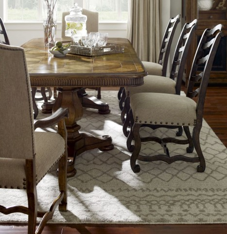 Collection One Harvest Burnished Pine Rectangular Extendible Dining Room Set