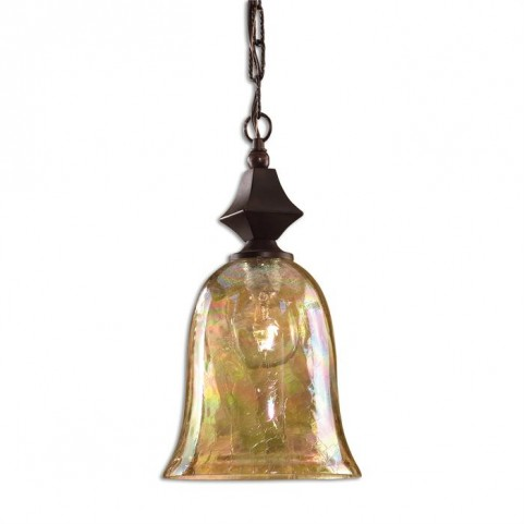 Elba Crackle Glass Mini Pendant