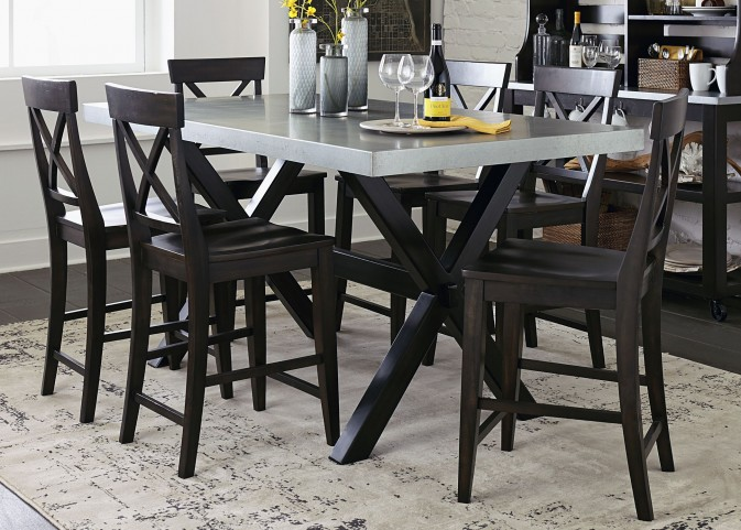 Keaton II Charcoal Gathering Dining Room Set
