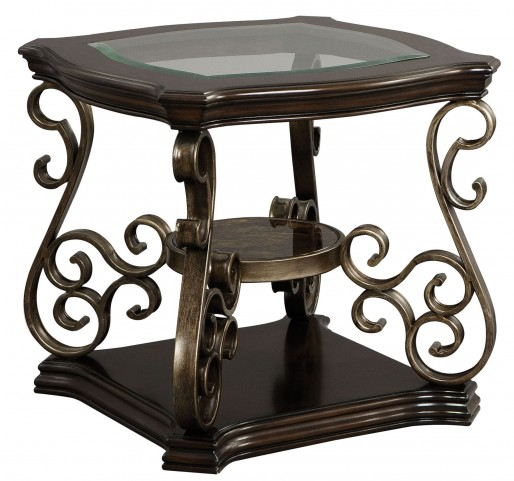 Seville Mellowed Golden Brown End Table