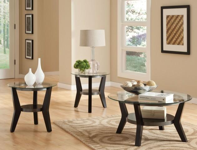 Orbit Black Paint 3 Piece Occasional Table Set