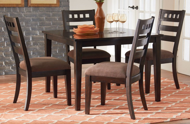 Sparkle Two Tones 5 Piece Dining Room Set
