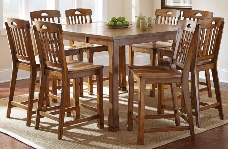 Menton Extendable Rectangular Counter Height Dining Room Set