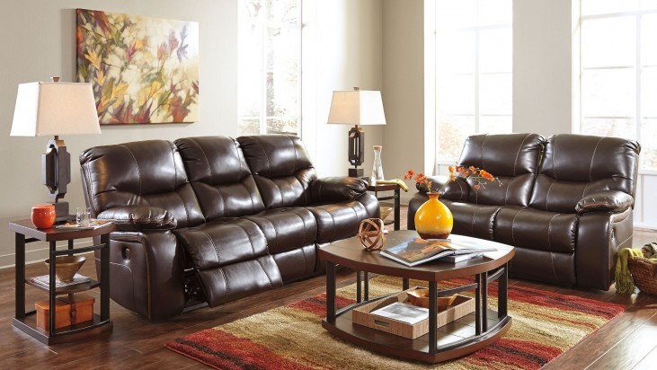 Pranas Brindle Reclining Living Room Set