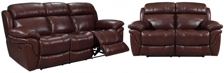 Edinburgh Brown Leather Power Reclining Living Room Set