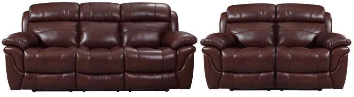 Edinburgh Brown Reclining Living Room Set