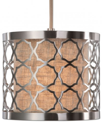 Harwich 1 Light Brushed Nickel Mini Pendant