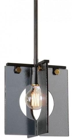 Vitrum 1 Light Smoke Glass Mini Pendant