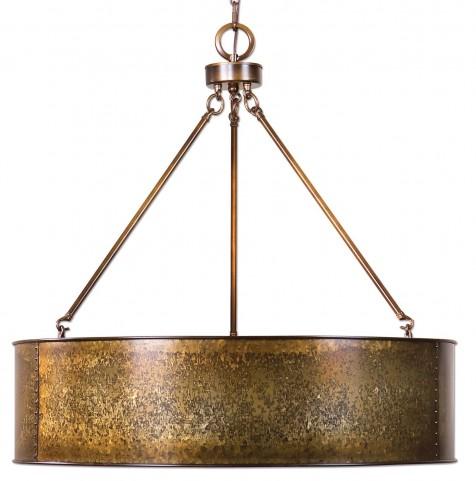 Wolcott 5 Light Golden Pendant