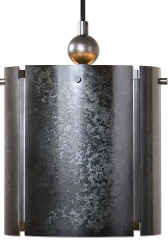 Norton 1 Light Mini Galvanized Metal Pendant