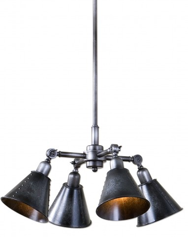 Fumant 4 Light Industrial Pendant