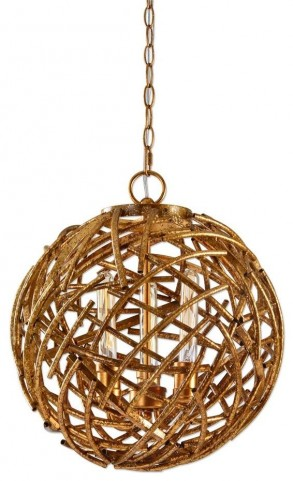 Sphera 3 Light Gold Pendant