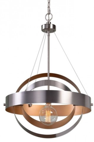Anello 1 Light Brushed Nickel Pendant