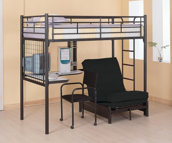 Bunks Black Workstation Loft Bed