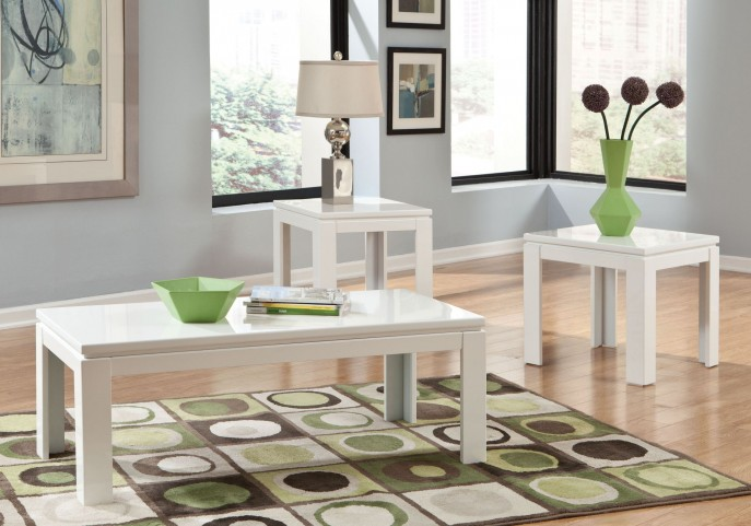 Outlook High Gloss 3 Piece Occasional Table Set