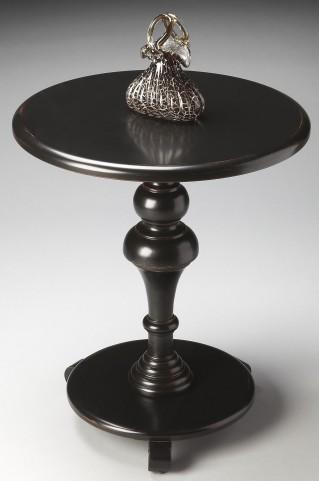 Masterpiece Black Licorice Pedestal Table