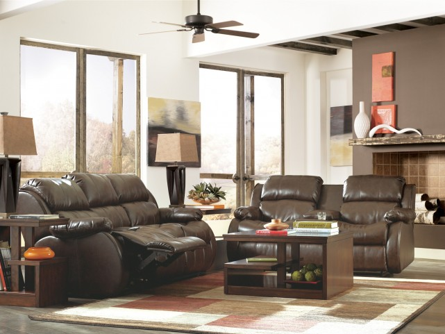 Mollifield DuraBlend Cafe Reclining Living Room Set